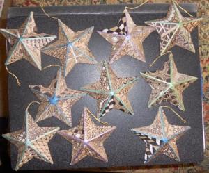 Zentangle Inspired Stars